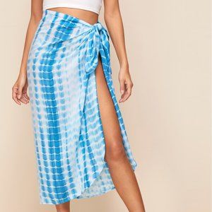 Other - Cover Up Skirt Knot Side Tie Dye Medium New